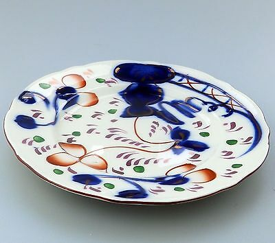 Antique English Pottery : A Gaudy Welsh Plate C.1912+