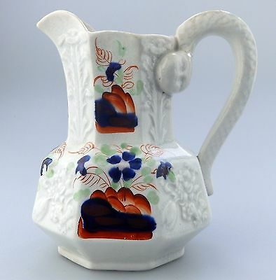 Antique English Pottery : A Gaudy Welsh hydra Jug C. early  19thC