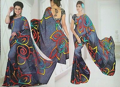 Bollywood Women Saree Party Wear Indian Ethnic Designer Sari Wedding Dress