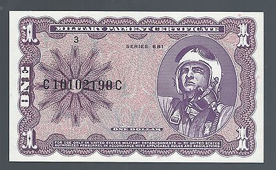 $1 Military Payment Cetificate Mpc Series 681 Gem Unc (Great Note)