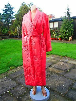 Original Vintage 40's/50's Quilted Dressing Gown/Housecoat Size 14