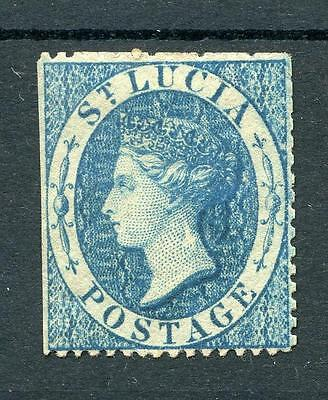 St Lucia 1860 small star (4d) blue SG2 MM cat £225