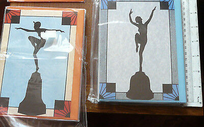 24 x ART DECO BLANK GREETINGS CARDS..NEW AND SEALED