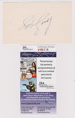 Bob Cousey Boston Celtics signed autographed index card JSA authenticated