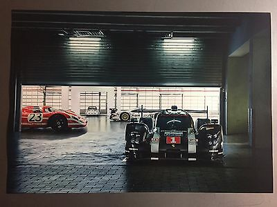 2017 Porsche 919 Hybrid Le Mans Race Car Showroom Advertising Sales Poster RARE!