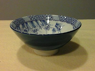 Vintage Blue and White Porcelain Bowl Grape and vines just a pretty dish!