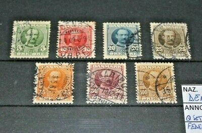 "Denmark 1907 ""king Federico Viii"" Used Set (Cat.2)"