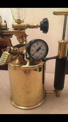 Rare Brass Blow Torch Up cycled Table Lamp Steampunk Industrial