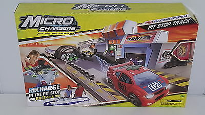 Micro Chargers Pro Racing Pit Stop Track , New, Free Shipping