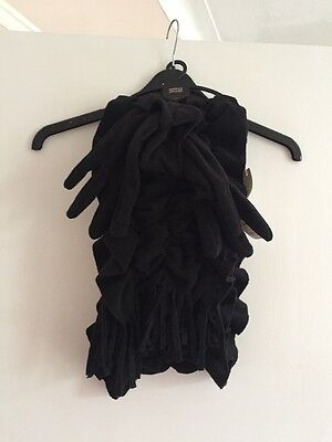 Marks And Spencer (M&s) Black Scarf And Glove Set Nwt