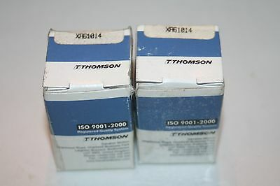 "(Lot of 2) Thomson XA61014 Closed Round Rail Ball Bushings XA-61014 3/8"" * NEW *"