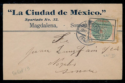 vg46 Mexico Chinese Cover #344 5ctv Magdalena SON   Nogales SON Oct 1913