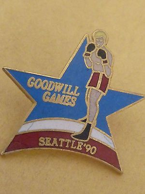 Pin's Sport Boxe Goodwill Games Seattle 1990