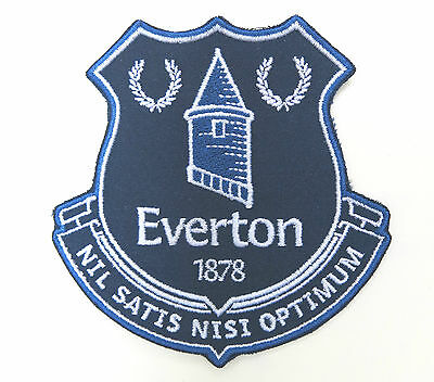 EVERTON FC PATCH Football Club Crest Embroidered Iron on Soccer Badge Toffees