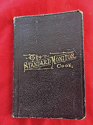 Antique The Standard Monitor Edward Cook Freemason's Vade 1888 Leather Book vtg