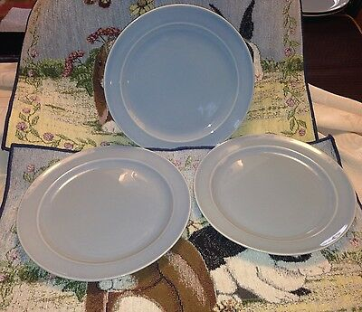"""Three Vintage Taylor Smith & Taylor Lu Ray Pastels 8 3/8""""  Dessert Lunch Plates"""