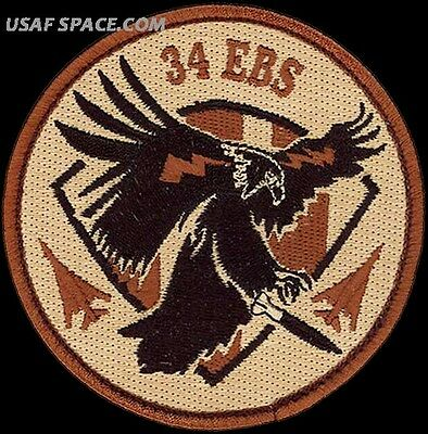 USAF 34th EXPEDITIONARY BOMB SQ - OPERATION INHERENT RESOLVE - ORIGINAL PATCH