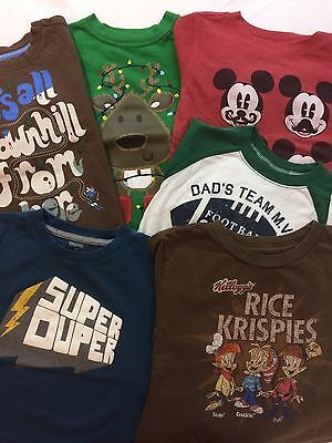 Boys Shirts Multicolors baby Gap Carters Gymboree 6pc lot play condition 3T