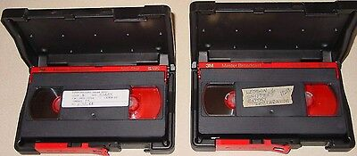 2 Used 3M Master Broadcast S-VHS Video Cassette Tapes w/ Storage Shipping Cases