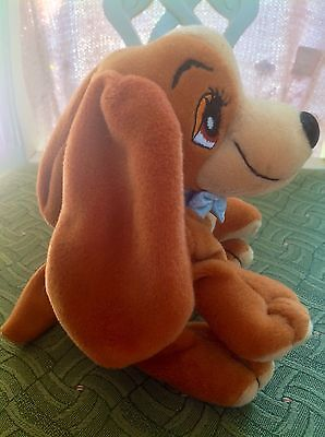 Vintage Disney Lady and the Tramp ' Lady' Beanie Plush Promotional Toy