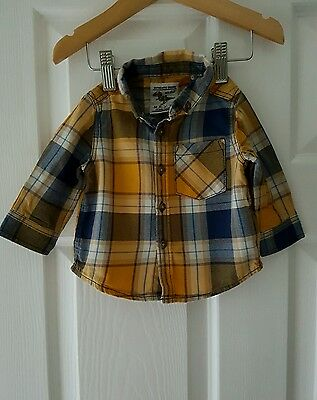 Next baby boys checked smart shirt 3-6 months