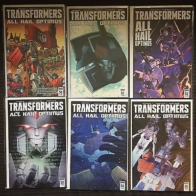 Transformers #50 to 55 NM All Hail Optimus Complete Current Series