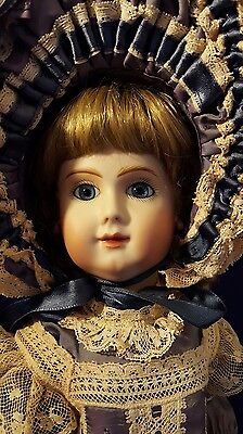 Rare Mothereau  French BeBe Bisque Head marked JM Jointed Composition Body