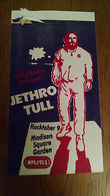Wplj Concert Patch From Jethro Tull At Msg In Nyc