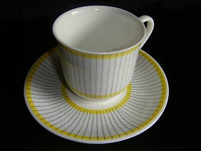 Gustavberg Pike chipped CUP marked SAUCER tea coffee demitasse Sweden Swedish