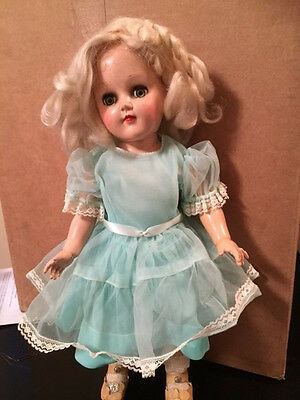 "Vintage 15"" Ideal P-91 Toni Doll with Working Open/Close Eyes"