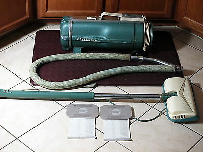 Vintage ELECTROLUX Model F VACUUM Canister Vac With Attachments and Vacuum Bags