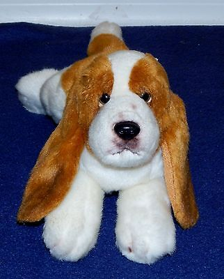 "10"" Russ Berrie Yomiko Classics Basset Hound Plush Dog Stuffed Animal bassett"