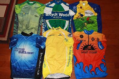 Lot Of 6 Adult Mens Cycling Jerseys Biking Tops Pactimo Verge Primal Xs Small