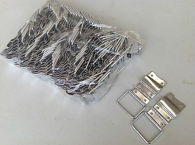 Guitar case hinges - Chrome - 100 pieces