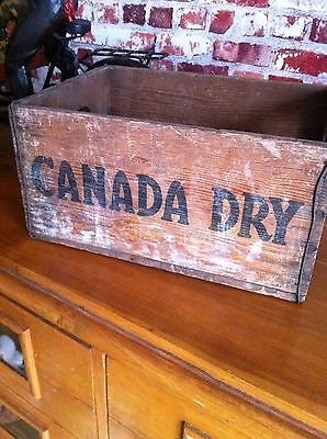 Vintage Original Canada Dry Wooden Crate From Northern Ireland