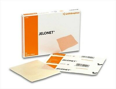 Jelonet Parafin Gauze Dressings 10cm x 10cm (10pk) Sterile Packed & Sealed New