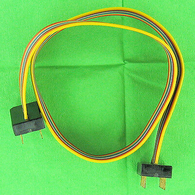 14 Conductor 12'' Flat Cable w/ 14 Pin Male IC DIP Connector Plugs Both Ends New
