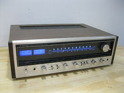 Pioneer SX-838 Stereo Receiver - Serviced w/ LED Upgraded Dial Lamps ----  Cool!
