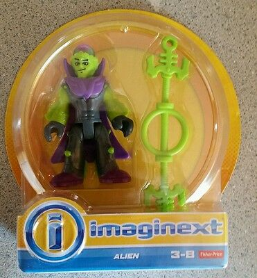 Imaginext Monsters Alien Figure Mad Scientist Lab Universal Fisher Price New