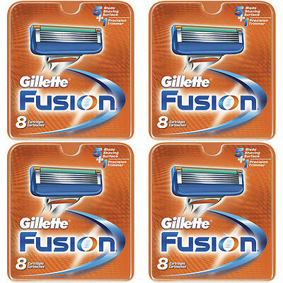 NEW AUTHENTIC Gillette Fusion Razor Blades Cartridge Refills - 32 Count