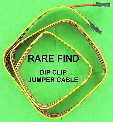 14 Pin IC Jumper Cable Dual 7 Pin Connectors One End Mate w/ DIP SOIC QUAD Clips