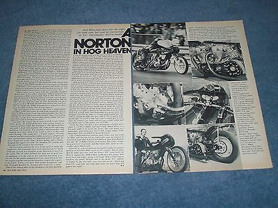 "1967 Norton Twin-Engine Drag Motorcycle Vintage Article ""A Norton in Hog Heaven"""