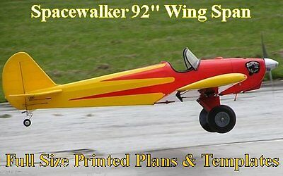 """Spacewalker 92"""" WS 1/4 Scale RC Airplane Full Size PRINTED Plans & Templates"""