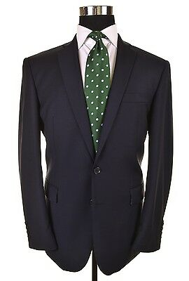 NWT Charles Tyrwhitt Solid Navy Wool Tailored Fit 2pc Suit Jacket Pants 40 S NEW