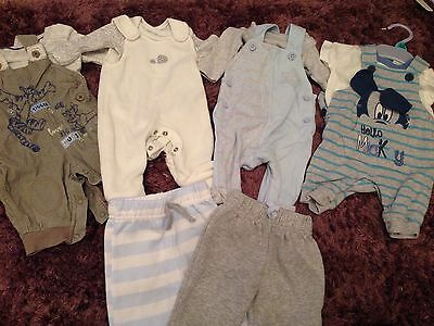 Bundle Of Baby Boys Outfits Clothes Newborn First Size. Mothercare, M&S, George
