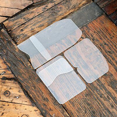 Three Card Holder Acrylic Leather Template Set - Made in USA