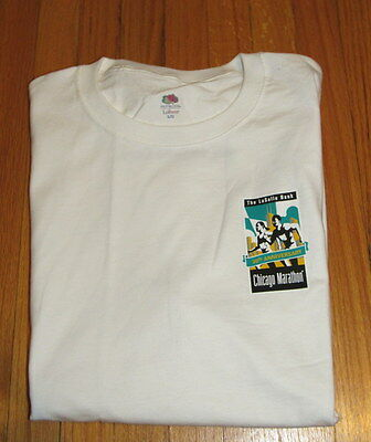 Adults Size Large CHICAGO MARATHON 30th Anniversary White T-Shirt Top