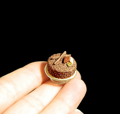 Chocolate Cake - made by artisan - English Kitchen - 12th scale dolls miniature