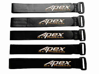 Apex RC Products 20mm X 300mm HD Non-Slip Battery Straps - 5 Pack #3031A
