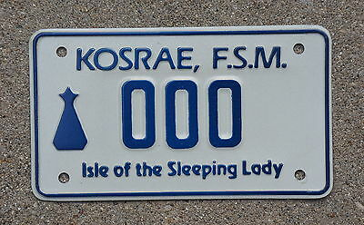 ISLE OF THE SLEEPING LADY FSM Island MOTORCYCLE License Plate - Oceania